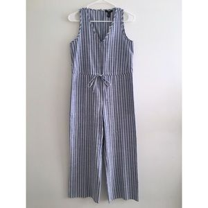 DREW | Linen Sleeveless Striped Jumpsuit